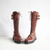 $175.00 Vintage Lace Up Boots / Cable &amp; Co Boots / by GingerRootVintage