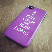 Keep Calm and Run Long iPhone 5 Case or Samsung Case 4 / 4S or 3G - Personalized iPhone Case - original design by a drop of golden sun
