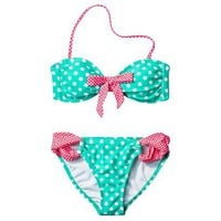 Target : Xhilaration Junior&#x27;s 2-Piece Swimsuit -Polka Dot Print : Image Zoom