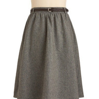 Grey-t Things Ahead Skirt | Mod Retro Vintage Skirts | ModCloth.com