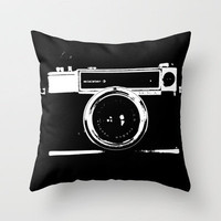 Camera Throw Pillow by Maressa Andrioli | Society6