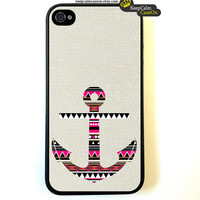 Aztec Anchor iPhone 4 Case / New Hard Fitted Case For iphone 4 & iphone 4S / iPhone Case
