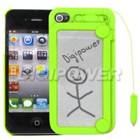 GREEN MAGNETIC DRAWING MAGIC CASE COVER SKIN FOR APPLE IPHONE 4 4G 4S