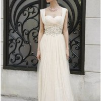 Nikola Convertible Sleeve Bridal or Pageant Wedding Gown