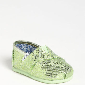 TOMS 'Classic Tiny - Glitter' Slip-On (Baby, Walker & Toddler)