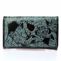 Iron Fist Sweet Skull O Mine Tri-fold Wallet (Vegan)