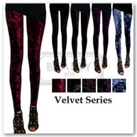 Velvet Series Women Rock Punk Funky Sexy Leggings Tights Pants | eBay