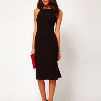ASOS Pencil Dress With Fishtail Hem at asos.com