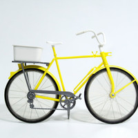 Very Little Yellow Bike by PhatHeads on Etsy
