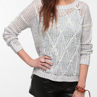 Coincidence & Chance Marled Open Cable Sweater
