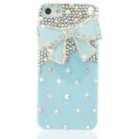 Amazon.com: NOVA CASE® Chic Series 3D Bling Crystal iPhone 5 Case - Blue Ribbon (Package includes: soft pouch, screen protector, extra crystals): Cell Phones & Accessories