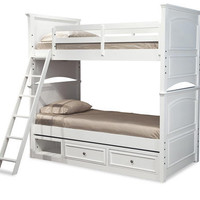 Daphne White Twin over Twin Bunk Beds
