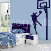 Vinyl Wall Sticker Decal Art - Basketball Player