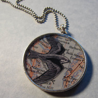 $20.00 Take Flight Pendant by birdseyeviewstudio on Etsy
