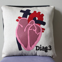 Science Diagram Pillow - Heart