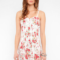 Bustier Floral Dress in Rose :: tobi