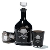 Skellington Skull and Crossbones Decanter