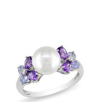 ideeli | ICE.COM Pearl and Multi Semi-Precious Stone Ring