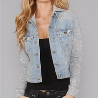 Jet by John Eshaya Jean Jacket with Sweatshirt