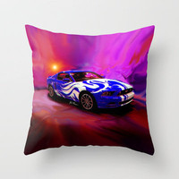 Wild Mustang Throw Pillow by JT Digital Art  | Society6