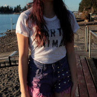 Highwaisted Pink/Purple Ombre Denim Shorts by DaiisyDukes on Etsy