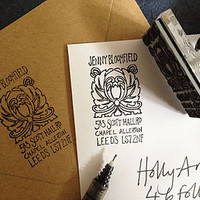 Personalised Nouveau Address Stamp
