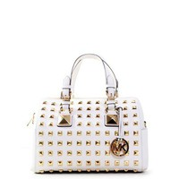 Michael Kors Grayson Studded Chain Satchel