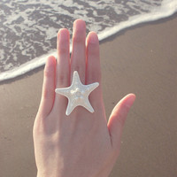 The Mermaid's Starfish Ring by dreamsbythesea