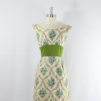 1960's COUTURE Vintage Dress Jeunes by VintageFrocksOfFancy