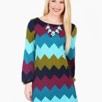 Chevron Darling Sweater Dress @ FrockCandy.com