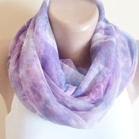 NEW, Spring scarf, women accessories, tulle scarf, spring fashion, Unique Gifts, thin scarf, Shawl, purple and pink