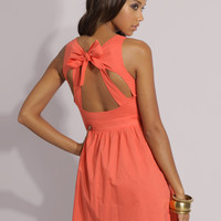 ASOS Tie Neck Open Back Dress