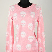 The Love of pretty — Pink skull cardi