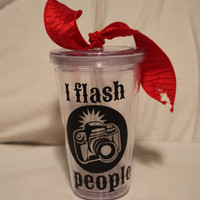 Photographer insulated tumbler with camera I FLASH by TAMstyle