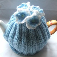 Flower Posy Tea Cosy Cosie Knitting Pattern Pdf File | Luulla