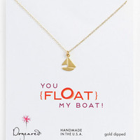 Dogeared 'You Float My Boat' Sailboat Pendant Necklace | Nordstrom