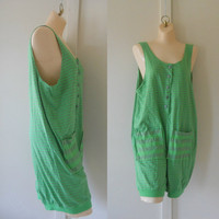 Deadstock 90s Romper Beach Coverup Beach Clothing Bathing Suit Coverup Swimsuit Cover Up Beach Cover Up Playsuit Play Suit 90s Clothing