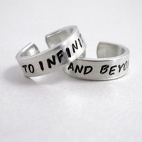 To Infinity and Beyond  Set of TWO Rings Hand by emerydrive