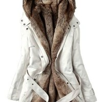 Amazon.com: SGG Warm Hooded Faux Fur Ling Winter Coat Long Jacket Parka Women: Clothing