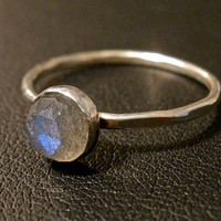 Labradorite Stacking Ring by OddsAndEndsByKaley on Etsy