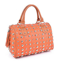 Pree Brulee - English Boston Handbag -  Sunset Orange - 1 LEFT
