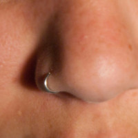 Nose Cuff silver Body Jewelry No piercing required by CurlyCuffs