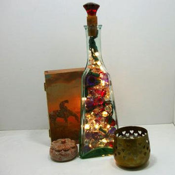 Night Light - Home Decor Light - Unique Lighted Gift - Unique Bottle Light