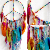 Peaceful Pow Wow Native Woven Dreamcatcher