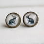 Rabbit Earrings  Bunny Rabbit Hare Vintage by SilkPurseSowsEar