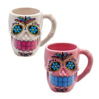 Mexican Sugar Skull Mug Day of the dead/Da de los Muertos/cute/candy/kitsch/cup