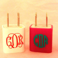 Set of 3 IPhone Charger Monograms by SouthernSassGSU on Etsy