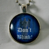 Don&#x27;t Blink Weeping Angel Necklace. Doctor Who Inspired. 18 Inch Chain.