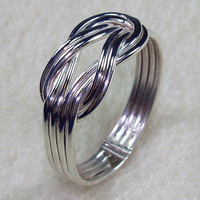 Stacked Celtic Love Knot Ring with Four Total by AviationJewelry