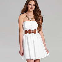 Sequin Hearts Strapless Eyelet Dress | Dillards.com